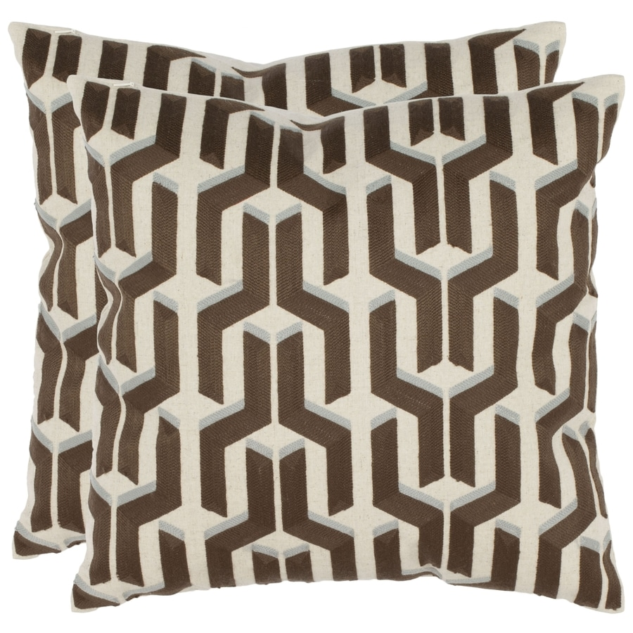 Safavieh Texola 2-Piece 18-in W x 18-in L Olive Square Indoor Decorative Pillow