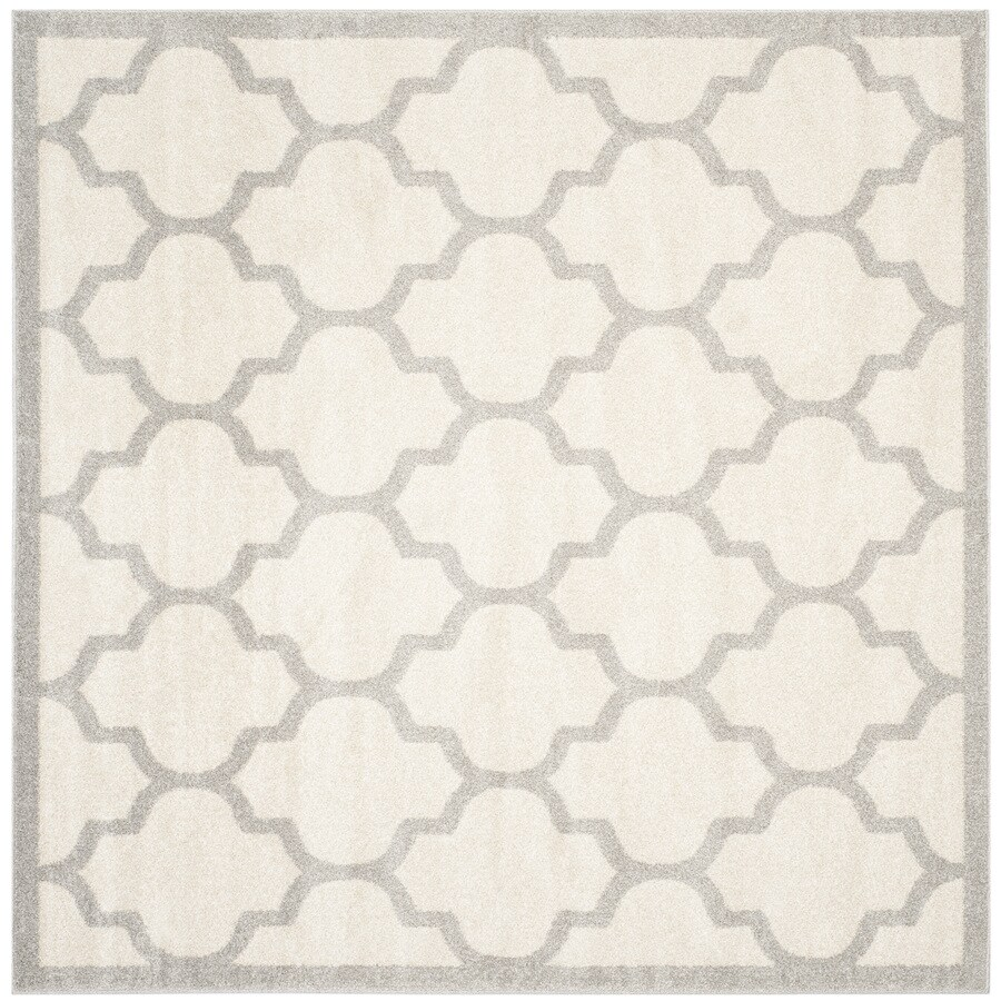 Safavieh Amherst Barret Beige/Light Gray Square Indoor/Outdoor Moroccan Area Rug (Common: 9 x 9; Actual: 9-ft W x 9-ft L)