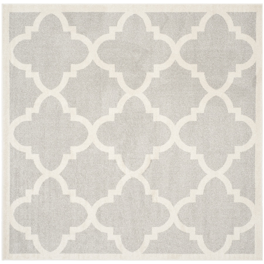 Safavieh Amherst Pompey Gray/Beige Square Indoor/Outdoor Moroccan Area Rug (Common: 5 x 5; Actual: 5-ft W x 5-ft L)