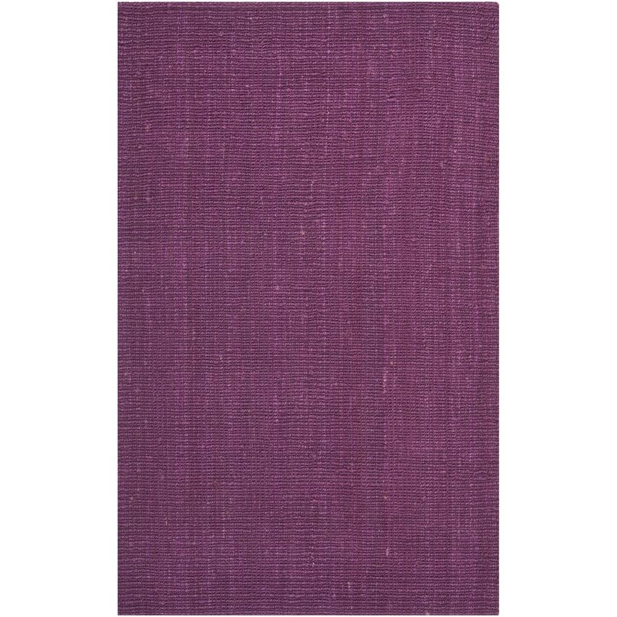 Safavieh Natural Fiber Bellport Purple Indoor Handcrafted Coastal Area Rug (Common: 4 x 6; Actual: 4-ft W x 6-ft L)