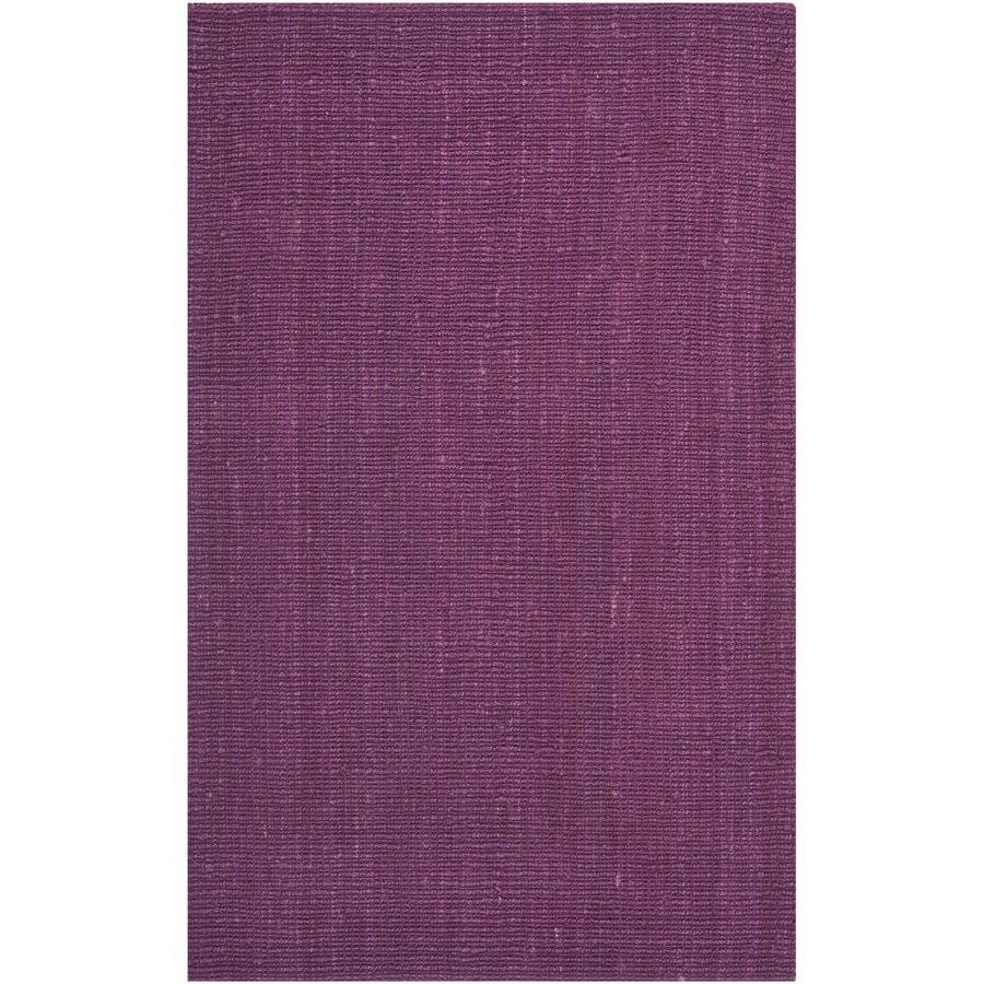 Safavieh Natural Fiber Bellport Purple Indoor Handcrafted Coastal Area Rug (Common: 6 x 9; Actual: 6-ft W x 9-ft L)