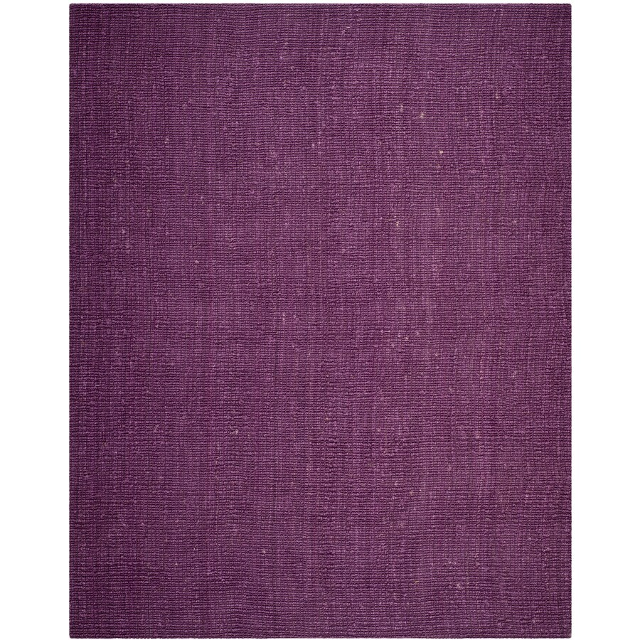 Safavieh Natural Fiber Bellport Purple Indoor Handcrafted Coastal Area Rug (Common: 8 x 10; Actual: 8-ft W x 10-ft L)