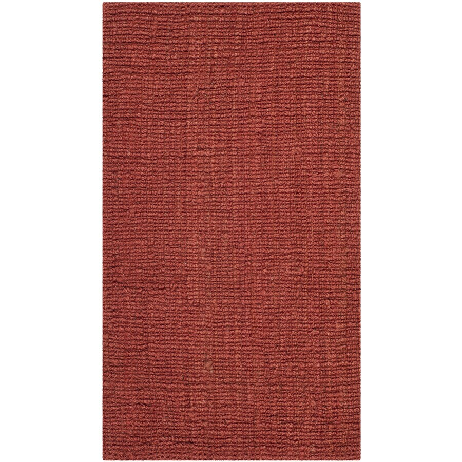 Safavieh Natural Fiber Bellport Rust Indoor Handcrafted Coastal Throw Rug (Common: 2 x 4; Actual: 2.5-ft W x 4-ft L)