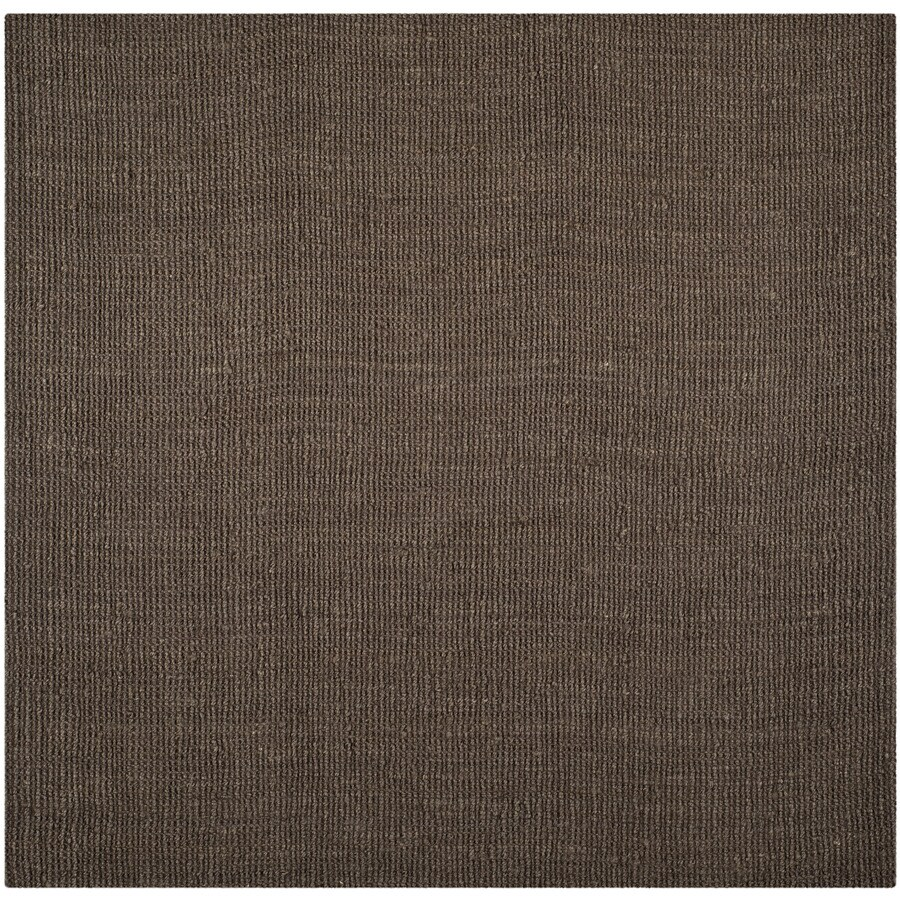 Safavieh Natural Fiber Bellport Brown Square Indoor Handcrafted Coastal Area Rug (Common: 8 x 8; Actual: 8-ft W x 8-ft L)