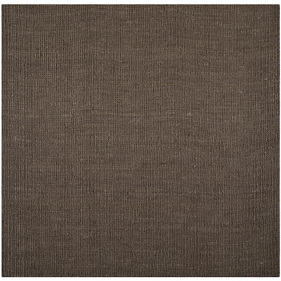 Natural Fiber Bellport Brown Square Indoor Handcrafted Coastal Area Rug Common 8 X Actual Ft W L