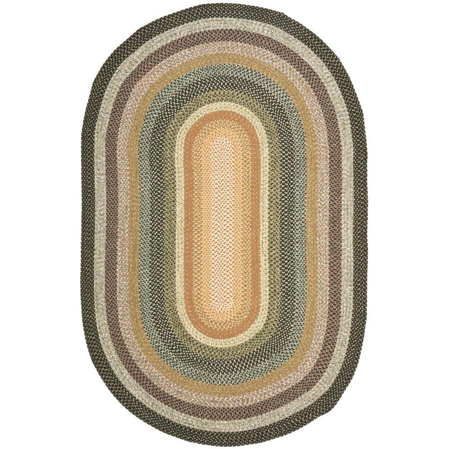 Safavieh Braided Multi Oval Indoor Handcrafted Coastal Area Rug (Common: 5 x 7; Actual: 5-ft W x 8-ft L x 0-ft Dia)