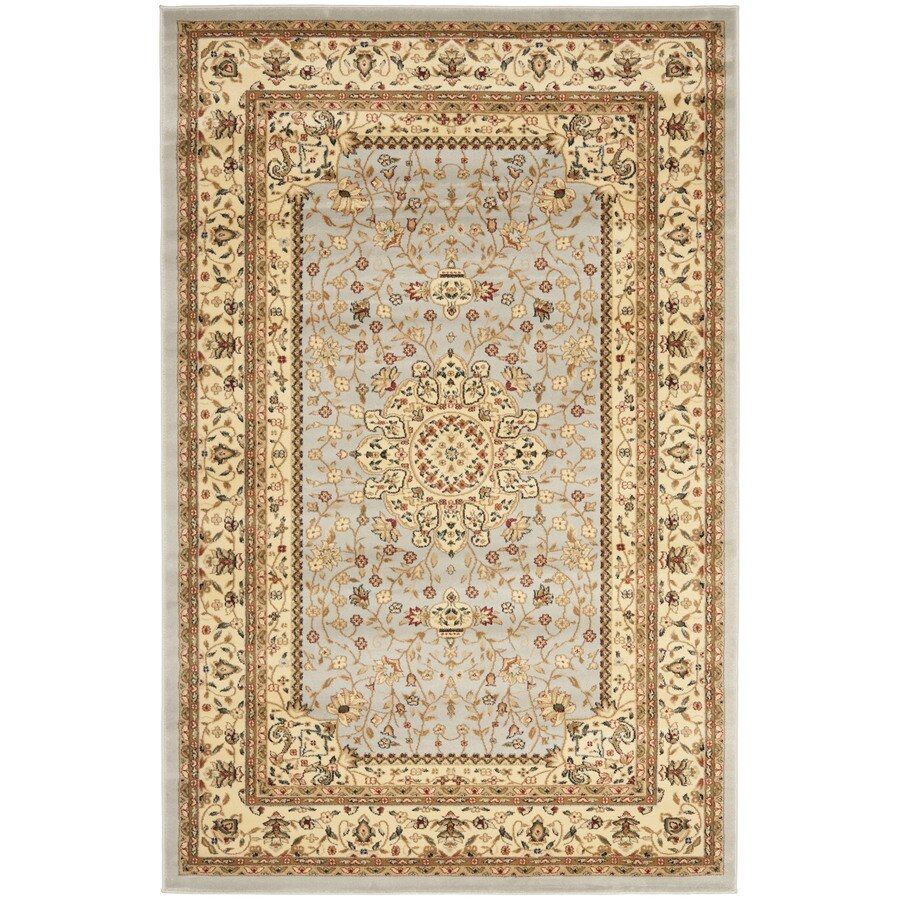 Safavieh Lyndhurst Tabriz Gray/Beige Rectangular Indoor Machine-made Oriental Area Rug (Common: 6 x 9; Actual: 6-ft W x 9-ft L)