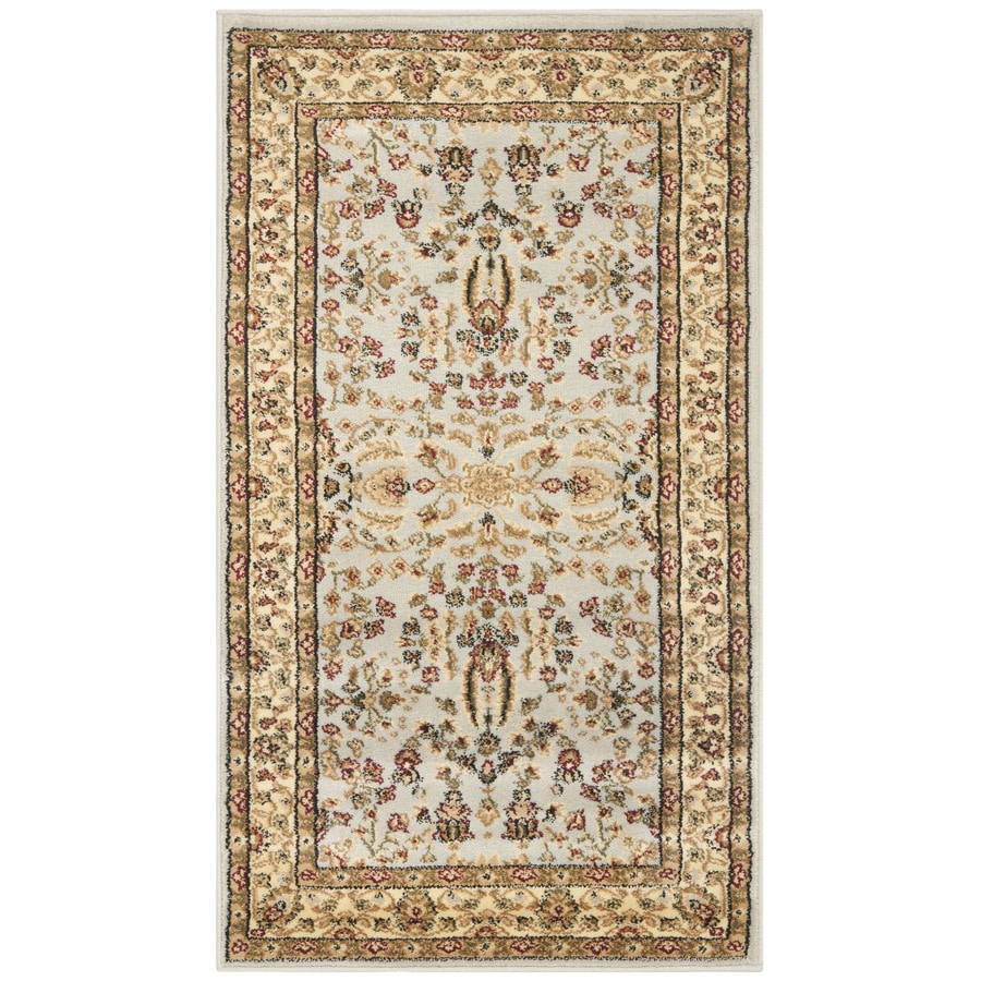 Safavieh Lyndhurst Isphahan Gray/Beige Indoor Oriental Throw Rug (Common: 2 x 4; Actual: 2.25-ft W x 4-ft L)