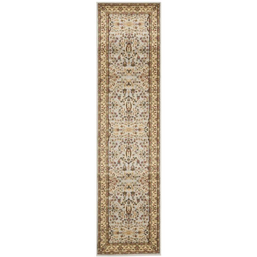 Safavieh Lyndhurst Isphahan Gray/Beige Indoor Oriental Runner (Common: 2 x 7; Actual: 2.25-ft W x 7-ft L)