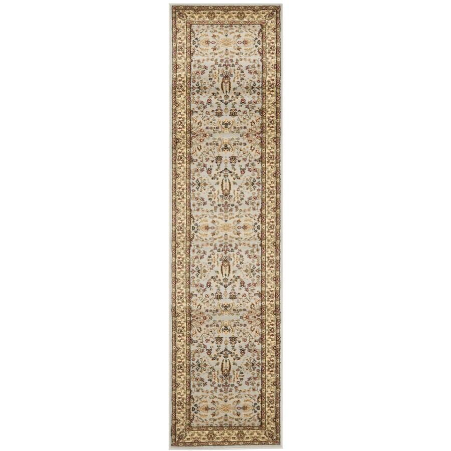 Safavieh Lyndhurst Isphahan Gray/Beige Indoor Oriental Runner (Common: 2 x 9; Actual: 2.25-ft W x 9-ft L)