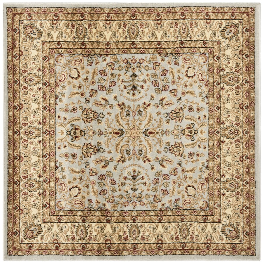Safavieh Lyndhurst Isphahan Gray/Beige Square Indoor Machine-made Oriental Area Rug (Common: 5 x 5; Actual: 5-ft W x 5-ft L)