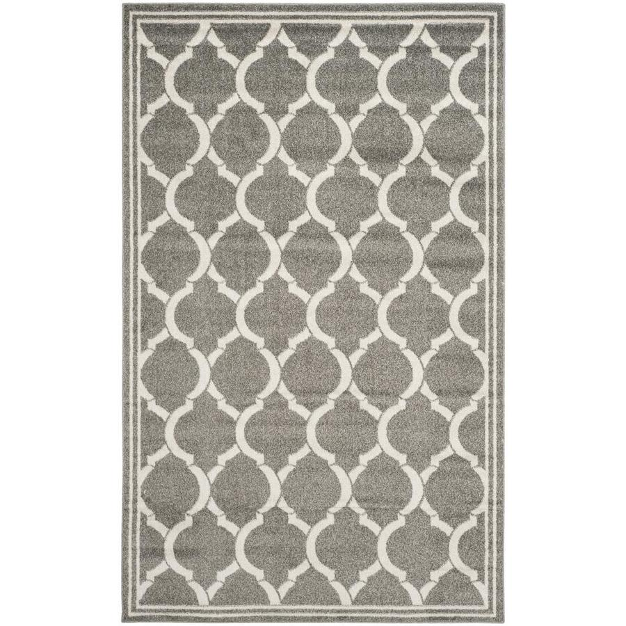 Safavieh Tilles Dark Gray/Beige Indoor/Outdoor Area Rug (Common: 8 x 10; Actual: 8-ft W x 10-ft L)