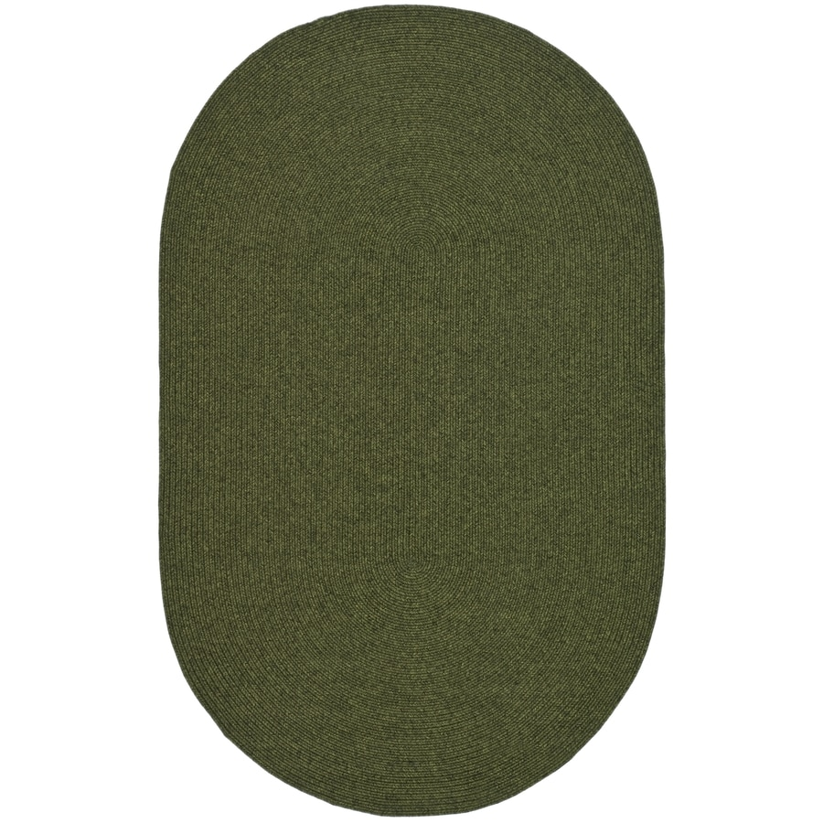 Safavieh Braided Green Oval Indoor Braided Area Rug (Common: 4 x 6; Actual: 4-ft W x 6-ft L)