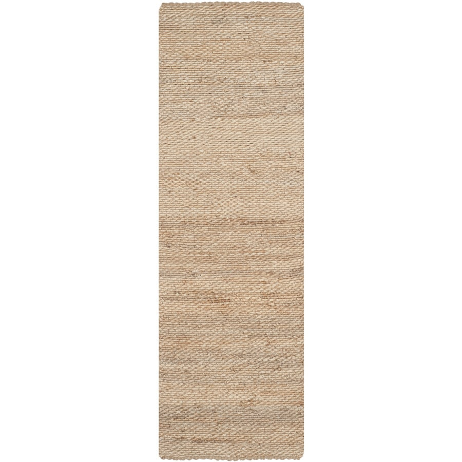 Safavieh Natural Fiber Amity Natural Indoor Handcrafted Coastal Runner (Common: 2 x 12; Actual: 2.5-ft W x 12-ft L)