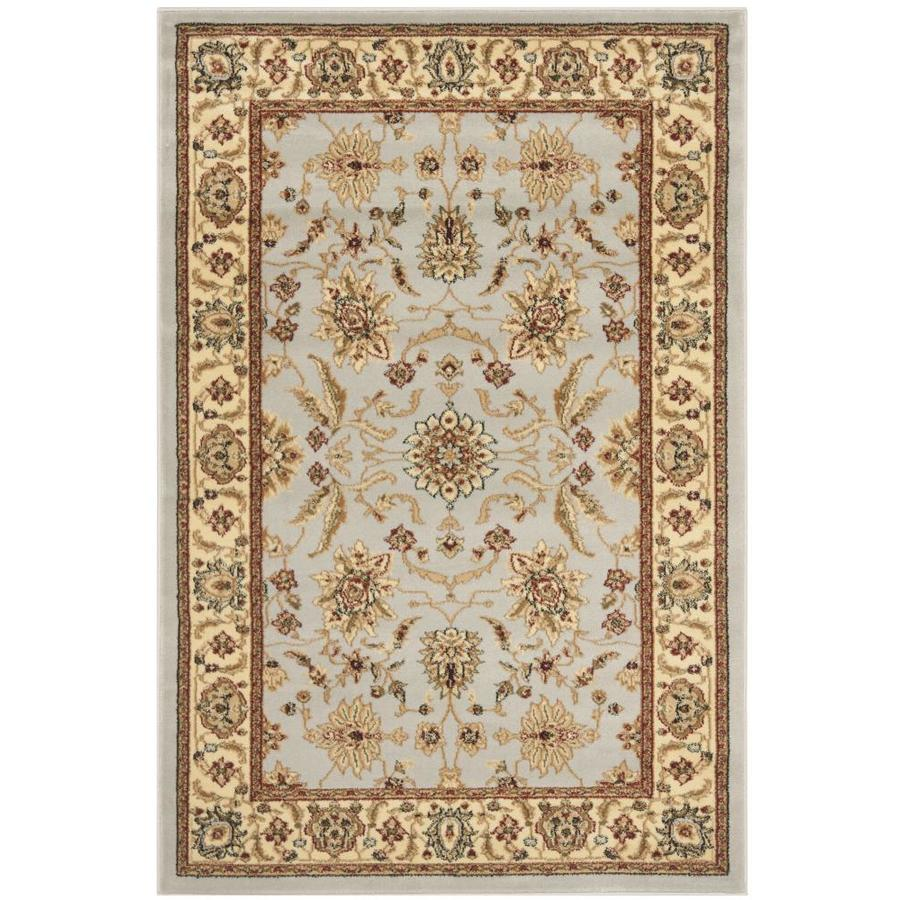 Safavieh Lyndhurst Agra Gray/Beige Rectangular Indoor Machine-made Oriental Area Rug (Common: 5 x 7; Actual: 5.25-ft W x 7.5-ft L)