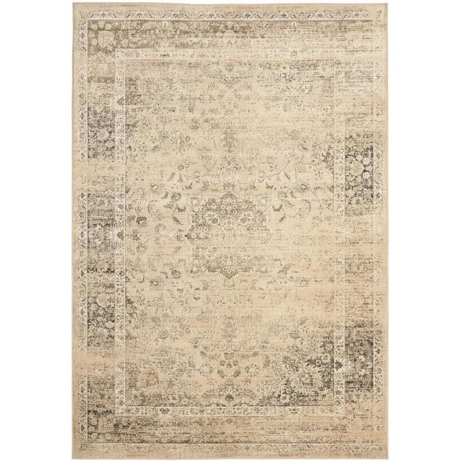 Safavieh Vintage Alhia Warm Beige Rectangular Indoor Machine-made Distressed Area Rug (Common: 4 x 6; Actual: 4-ft W x 5.6-ft L)