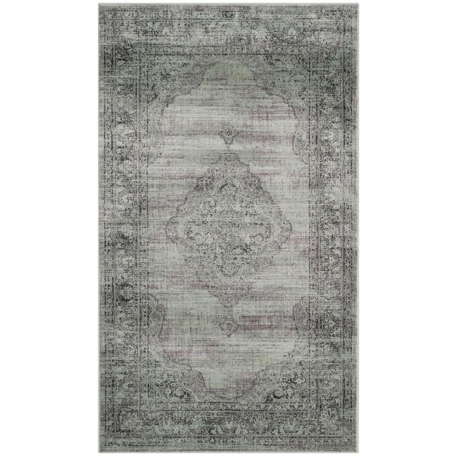 Safavieh Vintage Mezra Light Blue Indoor Distressed Area Rug (Common: 4 x 6; Actual: 4-ft W x 5.6-ft L)