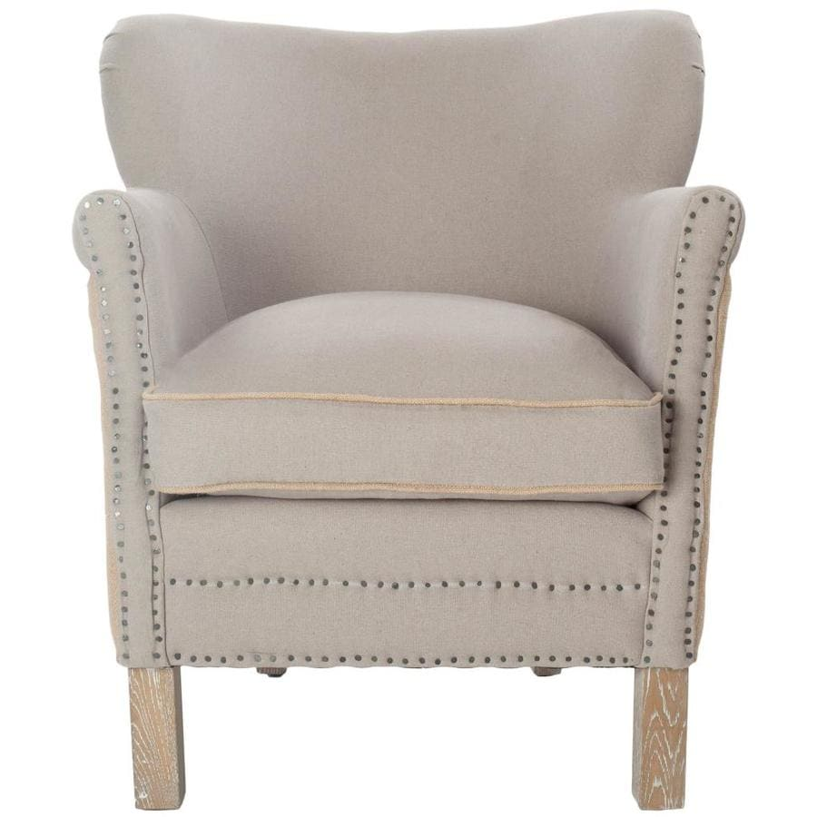 Safavieh Jenny Casual Taupe/Beige Linen Accent Chair