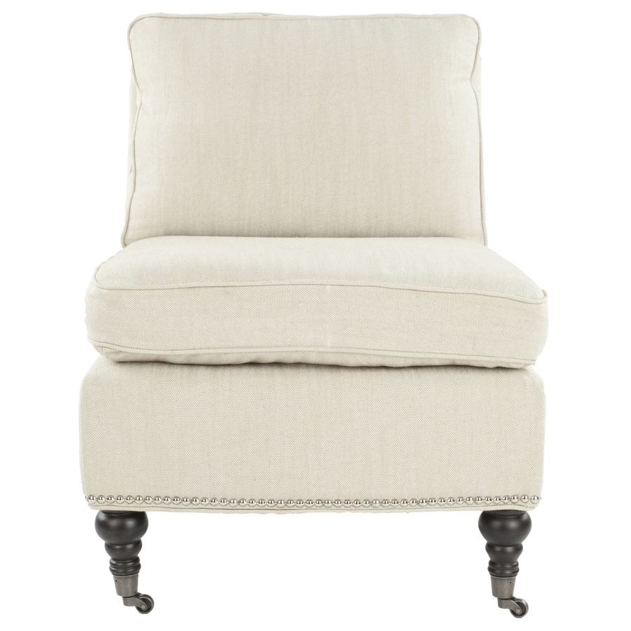 Safavieh Randy Casual Off White Linen Accent Chair At Lowescom