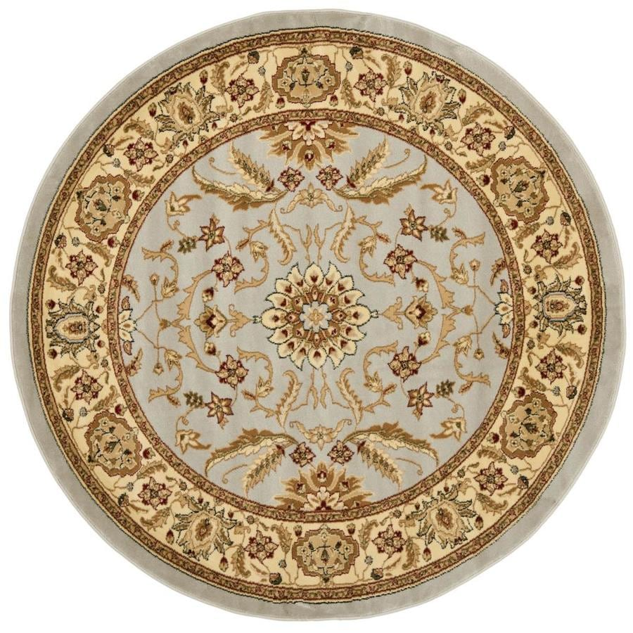 Safavieh Lyndhurst Agra Gray/Beige Round Indoor Oriental Area Rug (Common: 6 x 6; Actual: 6-ft W x 6-ft L x 6-ft dia)
