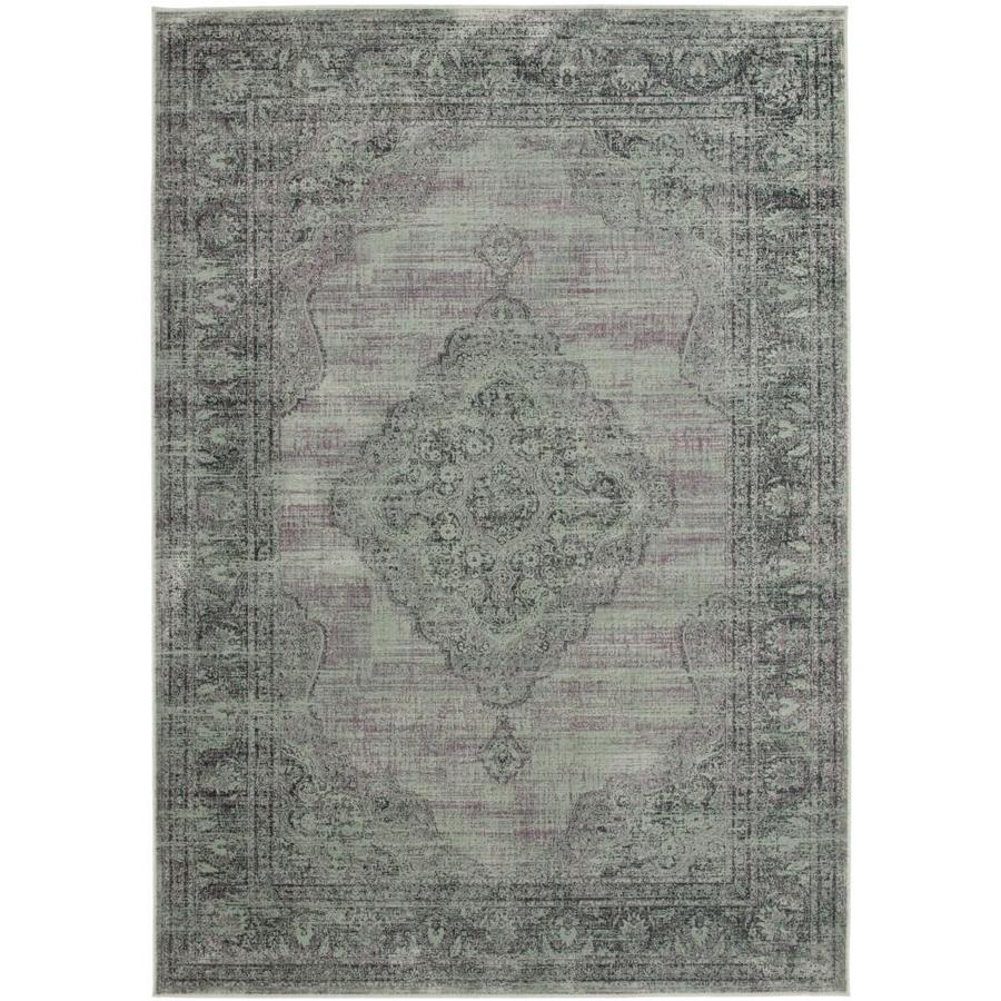Safavieh Vintage Light Blue Rectangular Indoor Machine-Made Distressed Area Rug (Common: 8 x 11; Actual: 8-ft W x 11.167-ft L)