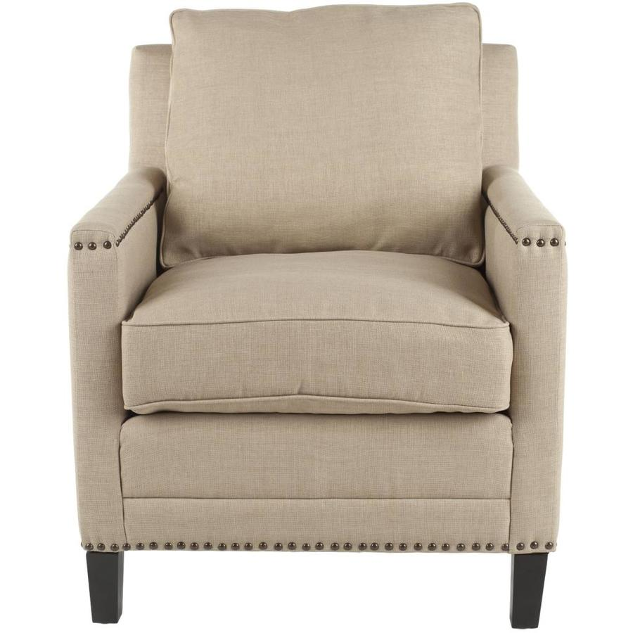 Safavieh Buckler Casual Wheat Beige Linen Accent Chair