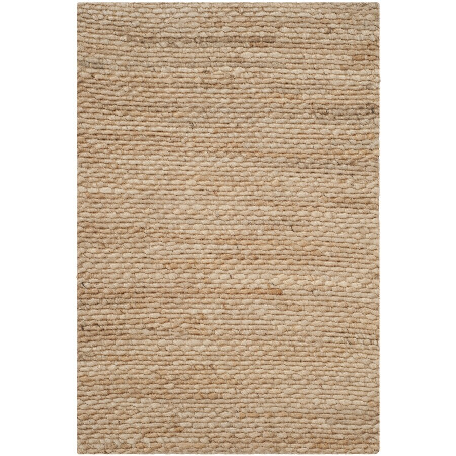 Safavieh Natural Fiber Amity Natural Indoor Handcrafted Coastal Throw Rug (Common: 3 x 5; Actual: 3-ft W x 5-ft L)