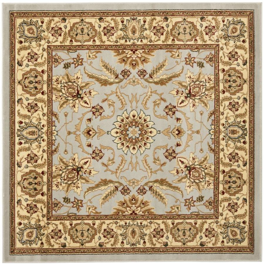 Safavieh Lyndhurst Agra Gray/Beige Square Indoor Machine-made Oriental Area Rug (Common: 6 x 6; Actual: 6-ft W x 6-ft L)