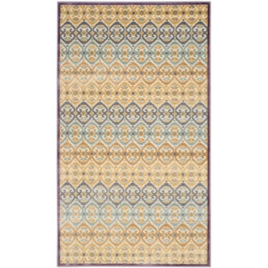 Safavieh Paradise Winford Mauve Indoor Oriental Area Rug (Common: 4 x 6; Actual: 4-ft W x 5.6-ft L)