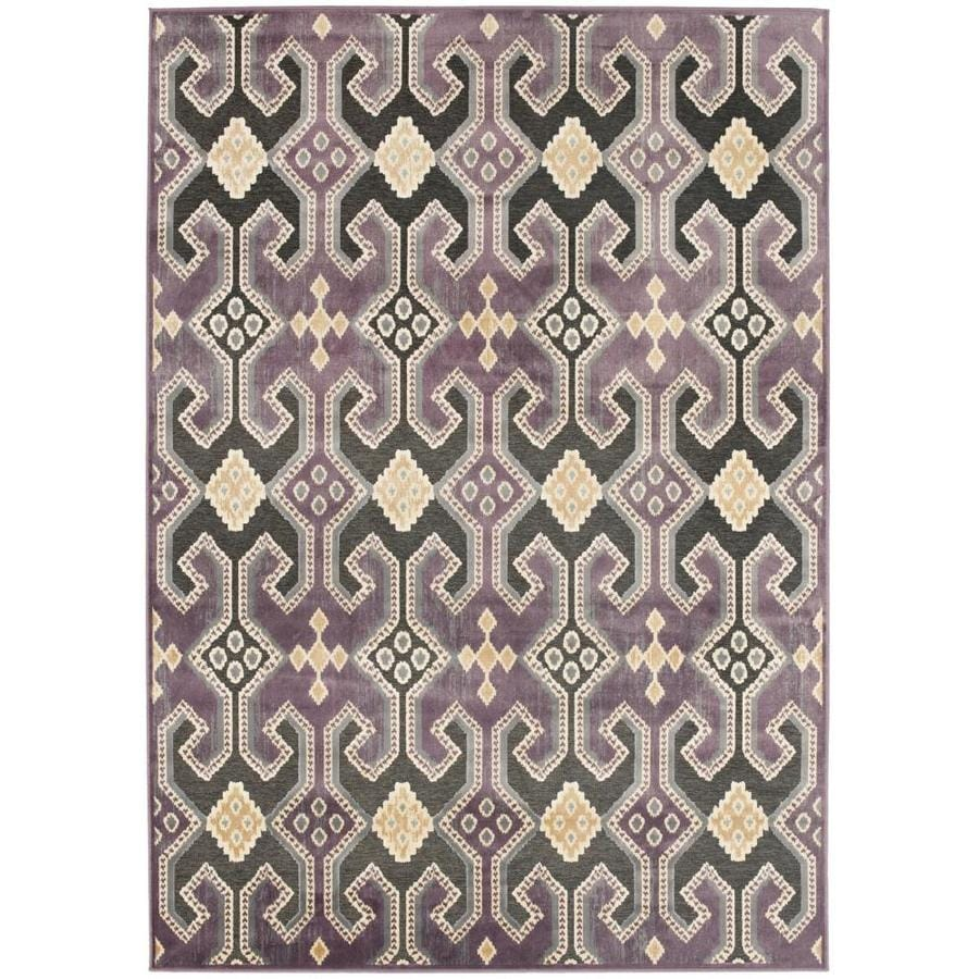 Safavieh Paradise Baker Purple/Multi Rectangular Indoor Machine-made Oriental Area Rug (Common: 4 x 6; Actual: 4-ft W x 5.583-ft L)