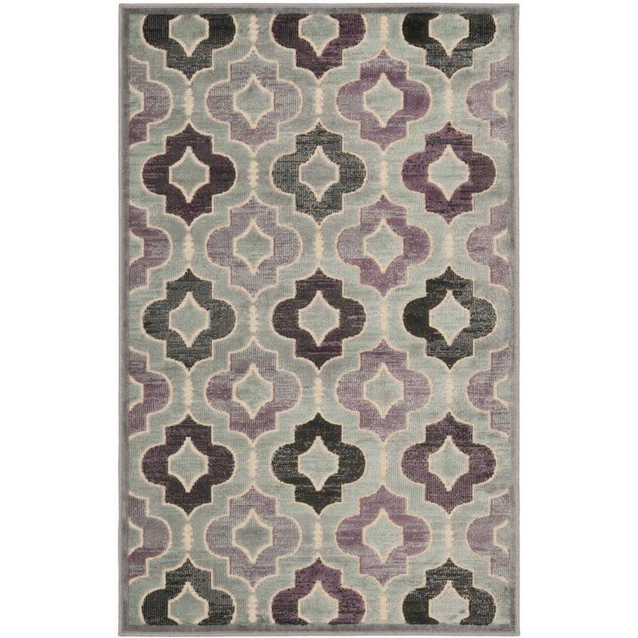 Safavieh Paradise Reed Gray/Multi Rectangular Indoor Machine-made Oriental Area Rug (Common: 4 x 6; Actual: 4-ft W x 5.583-ft L)