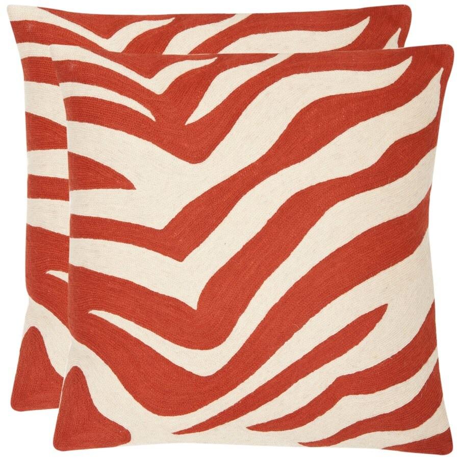 Safavieh Urban Spice 2-Piece 22-in W x 22-in L Orange Sunburst Square Indoor Decorative Pillow