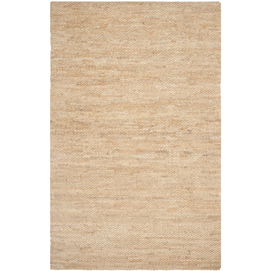 Safavieh Natural Fiber Amity Natural Rectangular Indoor Handcrafted Coastal Area Rug (Common: 6 x 9; Actual: 6-ft W x 9-ft L)