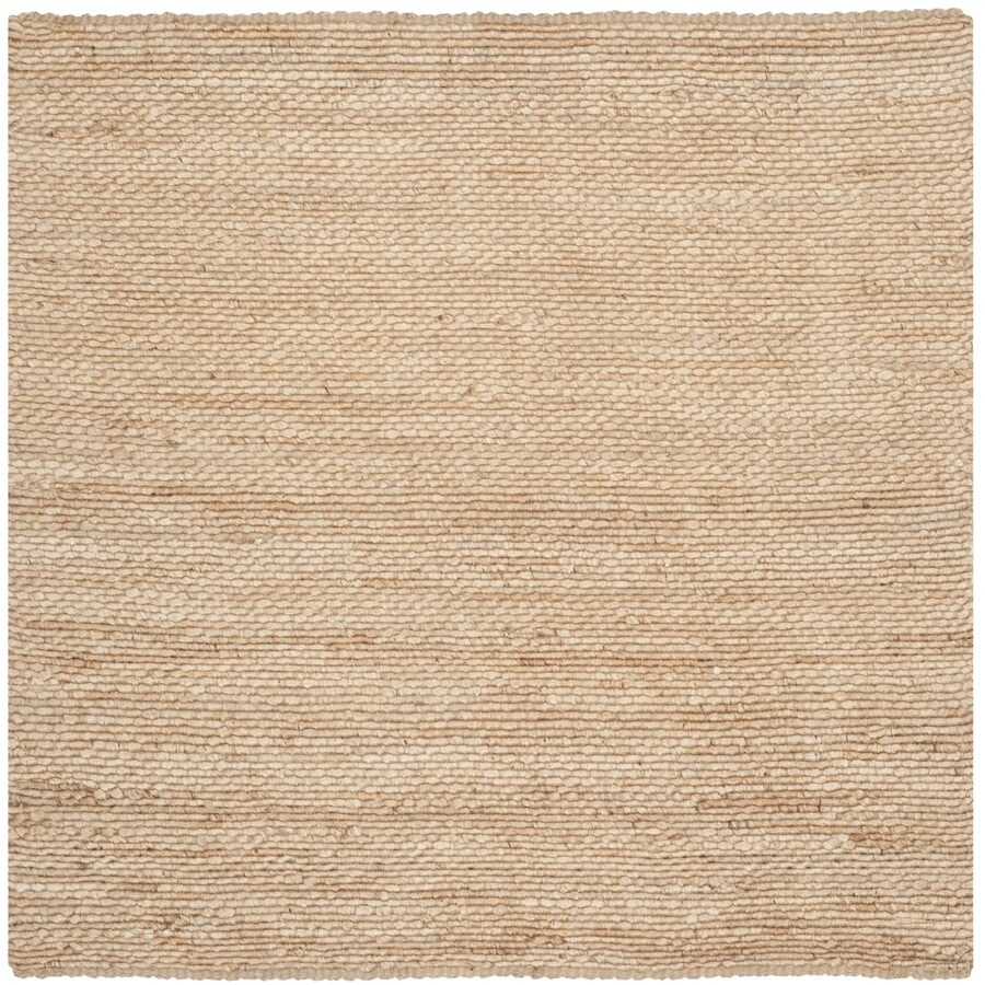 Safavieh Natural Fiber Amity Natural Square Indoor Handcrafted Coastal Area Rug (Common: 6 x 6; Actual: 6-ft W x 6-ft L)
