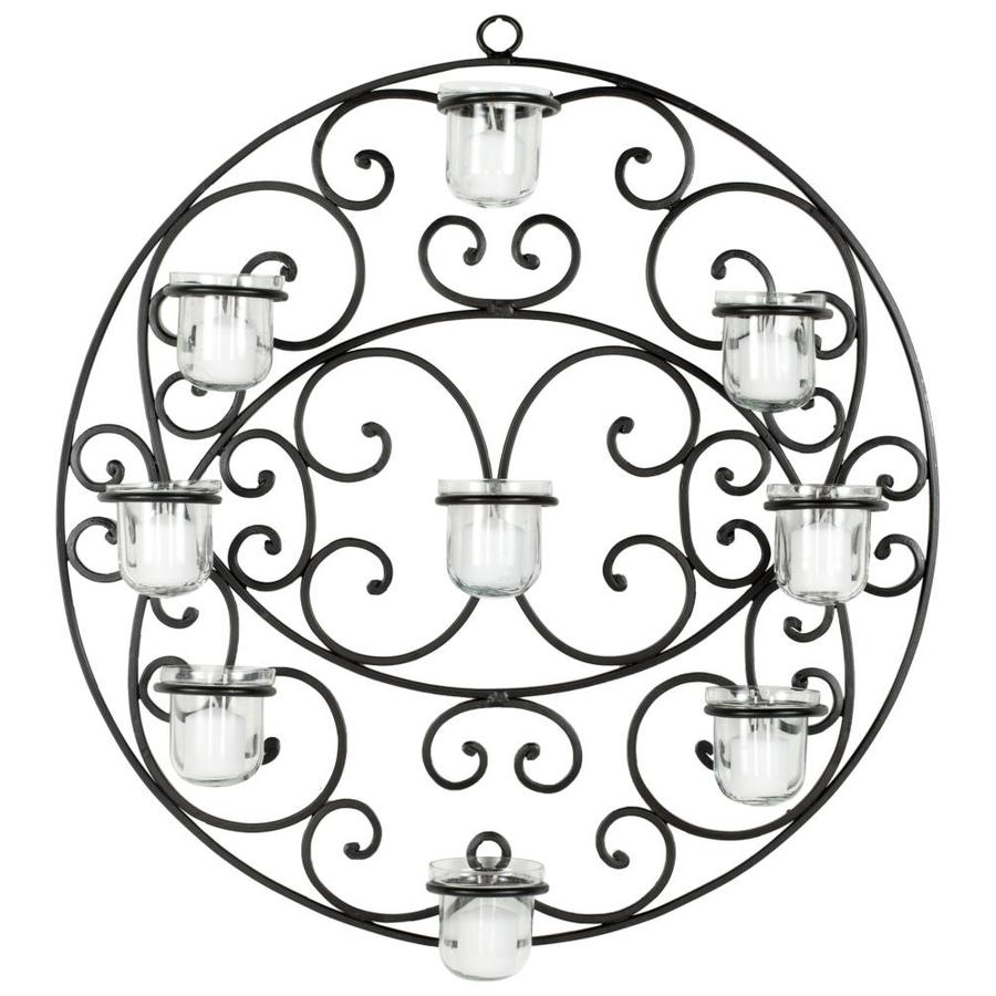 Safavieh Tea Light 1-Piece 23.6-in W x 23.6-in H Frameless Metal Iron wall decor 3D Art Wall Art