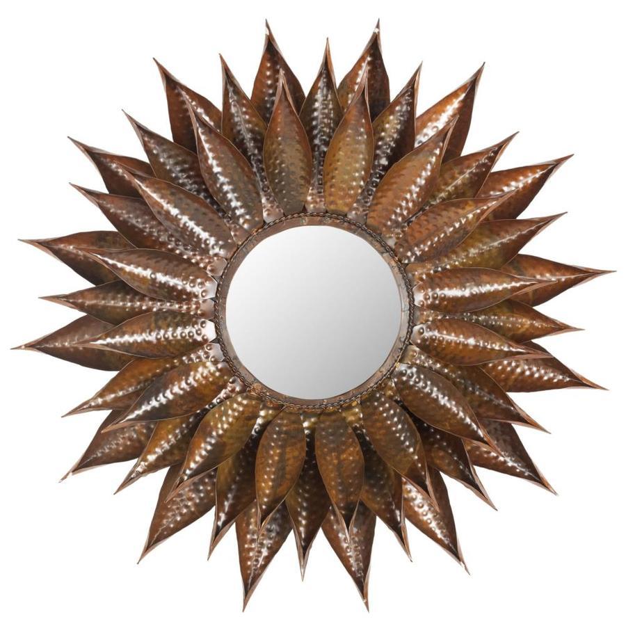 Safavieh Sunflower Copper Polished Round Wall Mirror