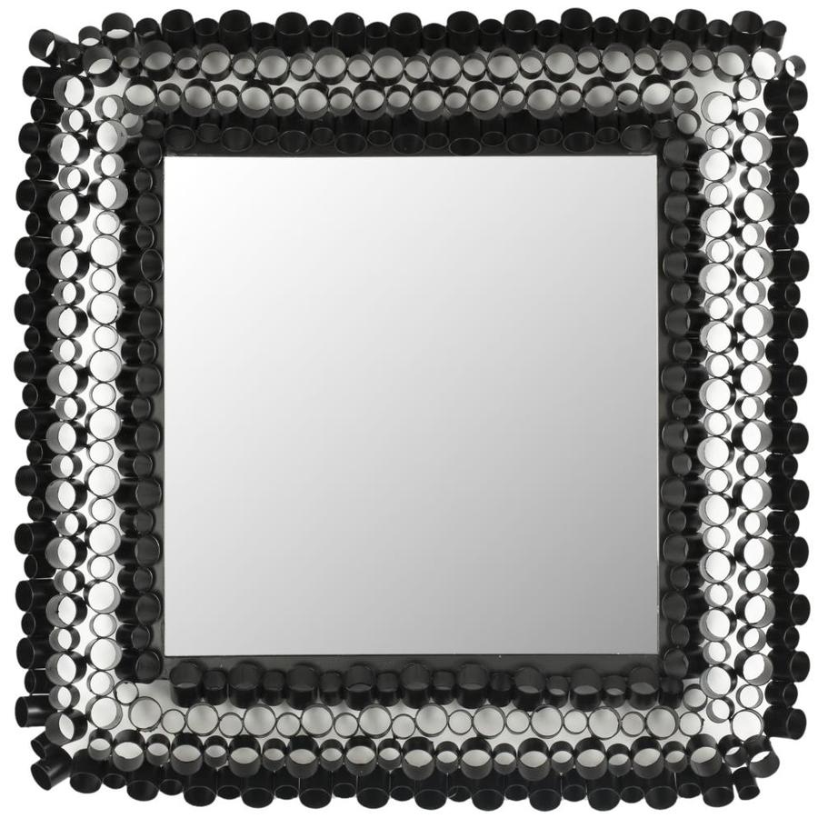Shop safavieh square tube black polished square wall for Square mirror