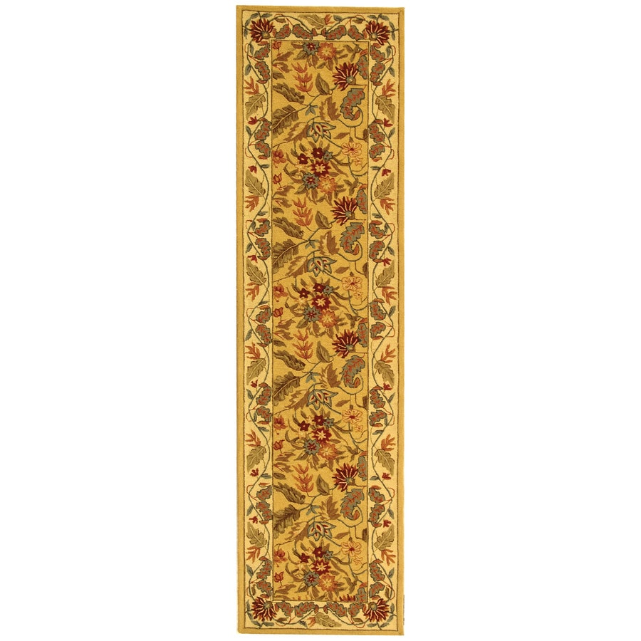 Safavieh Chelsea Spring Ivory Rectangular Indoor Handcrafted Lodge Runner (Common: 2 x 20; Actual: 2.5-ft W x 20-ft L)