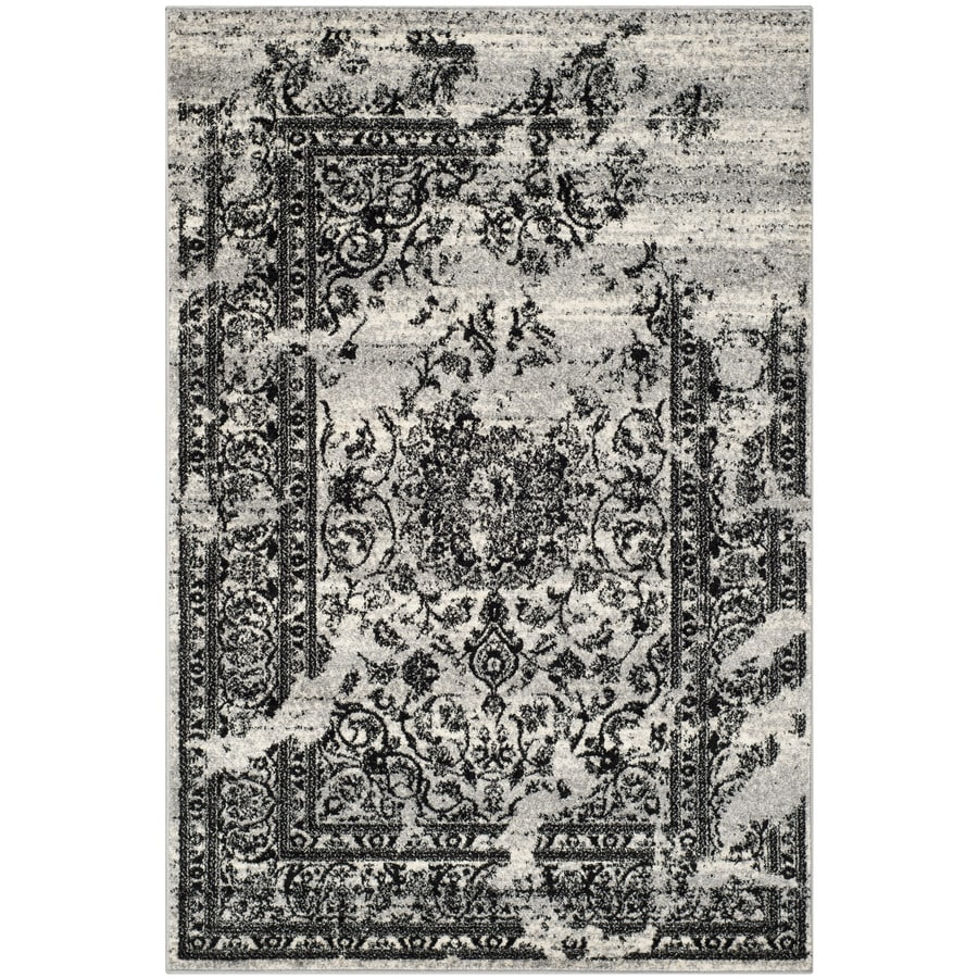 Safavieh Adirondack Silver/Black Rectangular Indoor Machine-Made Lodge Area Rug (Common: 10 x 14; Actual: 10-ft W x 14-ft L x 0-ft Dia)