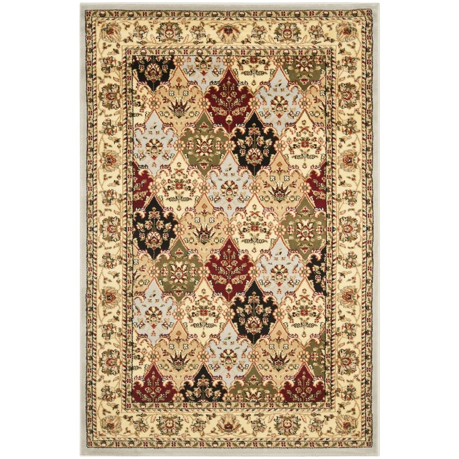 Safavieh Lyndhurst Rectangular Cream Floral Woven Area Rug (Common: 4-ft x 6-ft; Actual: 4-ft x 6-ft)