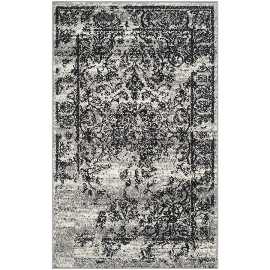 Safavieh Adirondack Silver/Black Rectangular Indoor Machine-Made Lodge Runner (Common: 2.3 x 6; Actual: 2.5-ft W x 6-ft L)