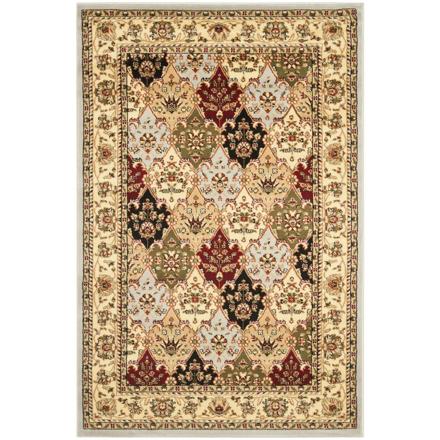 Safavieh Lyndhurst Fusion Gray Indoor Oriental Area Rug (Common: 5 x 8; Actual: 5.25-ft W x 7.5-ft L)