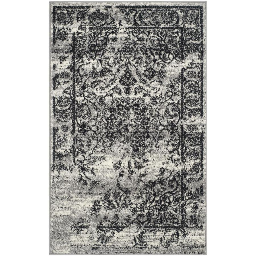 Safavieh Adirondack Silver/Black Rectangular Indoor Machine-Made Throw Rug