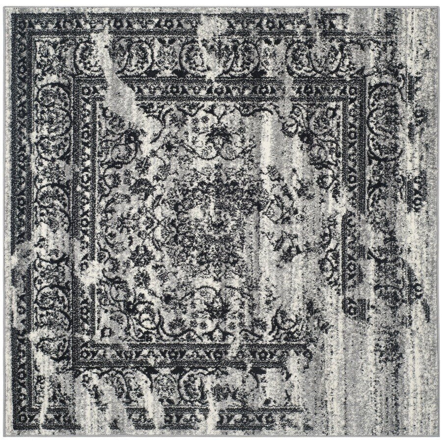 Safavieh Adirondack Silver/Black Square Indoor Machine-Made Area Rug