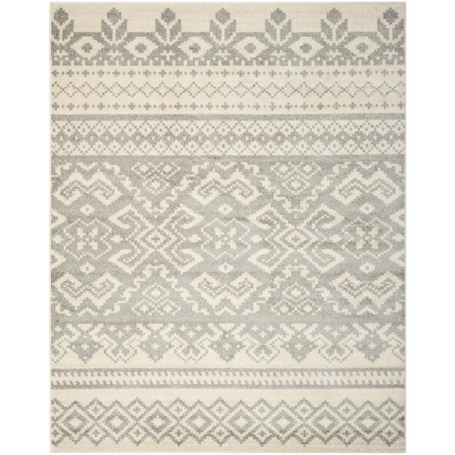 Safavieh Adirondack Taos Ivory/Silver Indoor Lodge Area Rug (Common: 10 x 14; Actual: 10-ft W x 14-ft L)