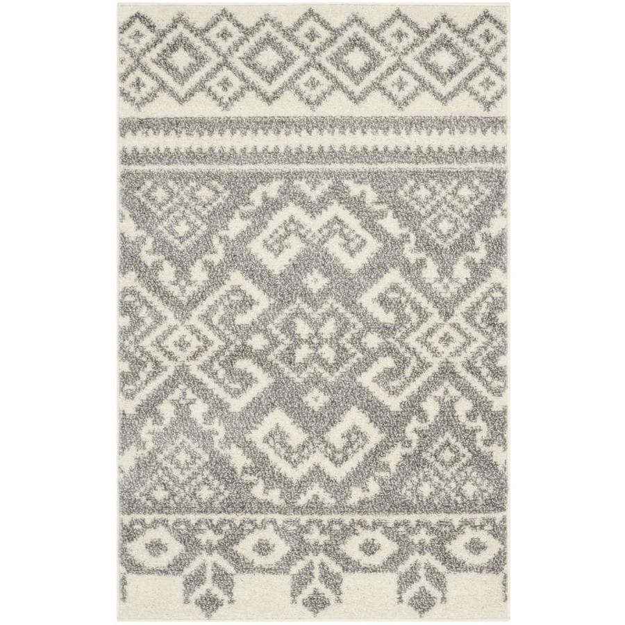 Safavieh Adirondack Taos Ivory/Silver Indoor Lodge Throw Rug (Common: 2 x 4; Actual: 2.5-ft W x 4-ft L)