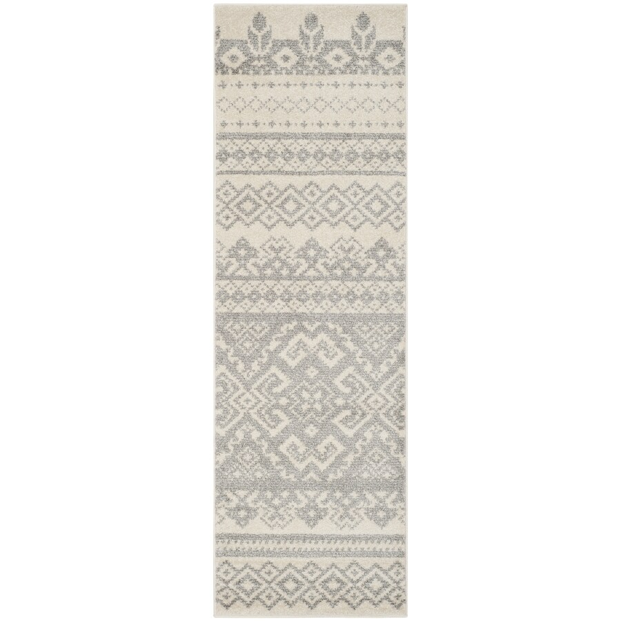 Safavieh Adirondack Taos Ivory/Silver Indoor Lodge Runner (Common: 2 x 6; Actual: 2.5-ft W x 6-ft L)