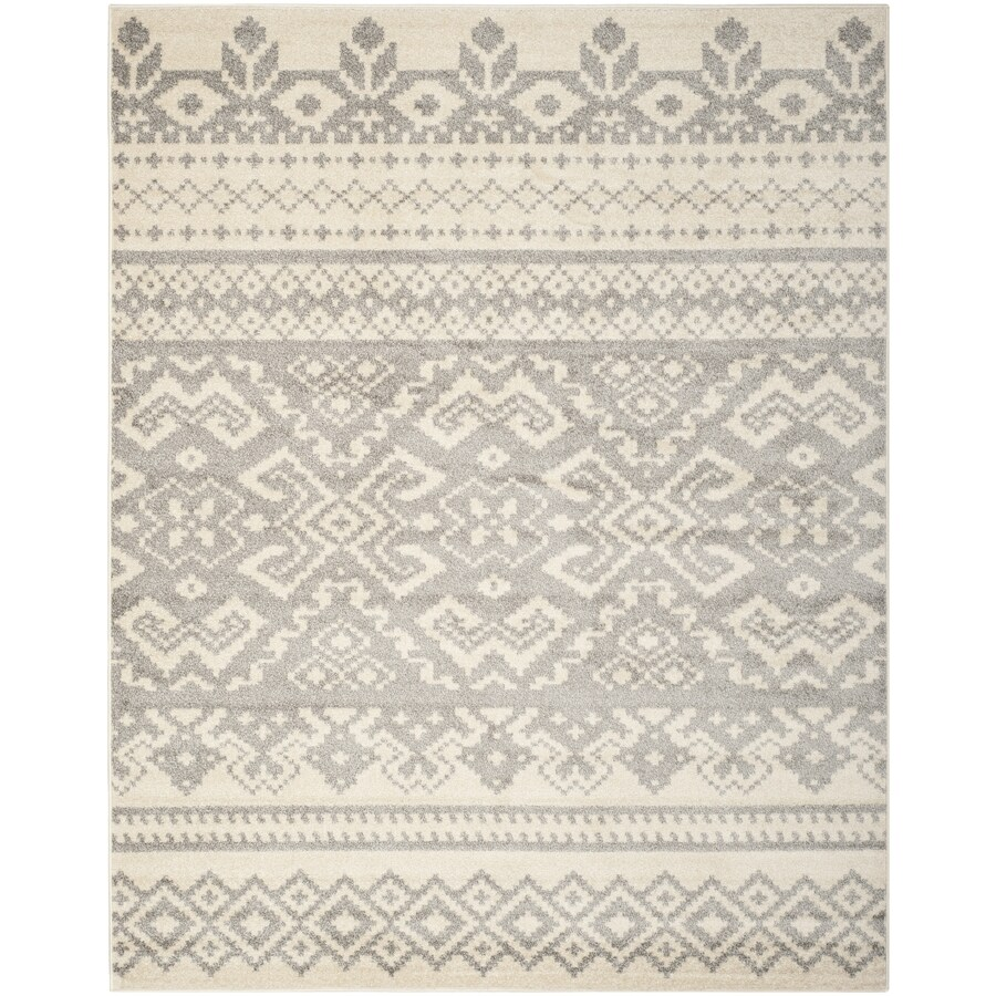 Safavieh Adirondack Taos Ivory/Silver Indoor Lodge Area Rug (Common: 9 x 12; Actual: 9-ft W x 12-ft L)