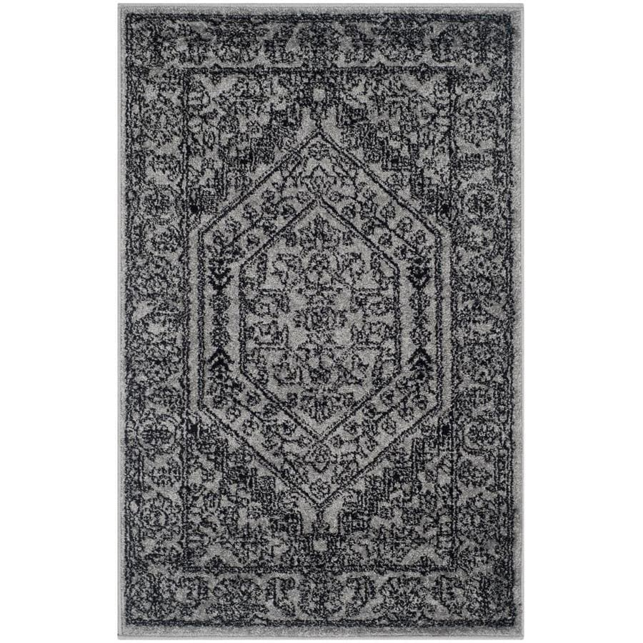 Safavieh Adirondack Silver/Black Rectangular Indoor Machine-Made Lodge Throw Rug (Common: 2 x 4; Actual: 2.5-ft W x 4-ft L)