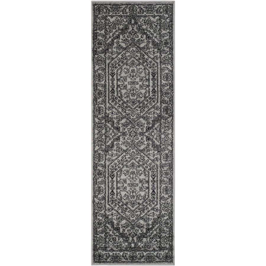 Safavieh Adirondack Silver/Black Rectangular Indoor Machine-Made Lodge Runner (Common: 2 x 6; Actual: 2.5-ft W x 6-ft L)